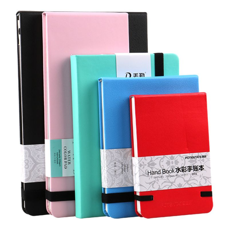 300gsm 24 Sheets Watercolor Pad Sketch Stationery Notebook For Drawing Marker Sketch Book Memo Pad Notebook Stationery