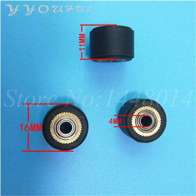 4mm pinch roller Vinyl cutting plotter rubber roller 4X11X16MM 60PCS + inkjet printer myjet pinch roller 29X10mm 30pcs