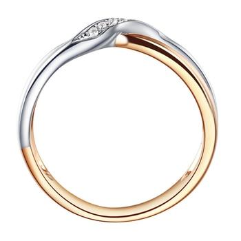 18K Two-Tone Gold Diamond Couple Ring Set Wedding Engagement Twisted Band Diamond Jewelry Engraving 2