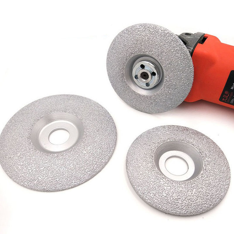 100mm 125mm Vacuum Brazed Diamond Grinding Wheel Disc Dry Wet Shaping Grinding Wheel For Granite Marble For Angle Grinder Tool