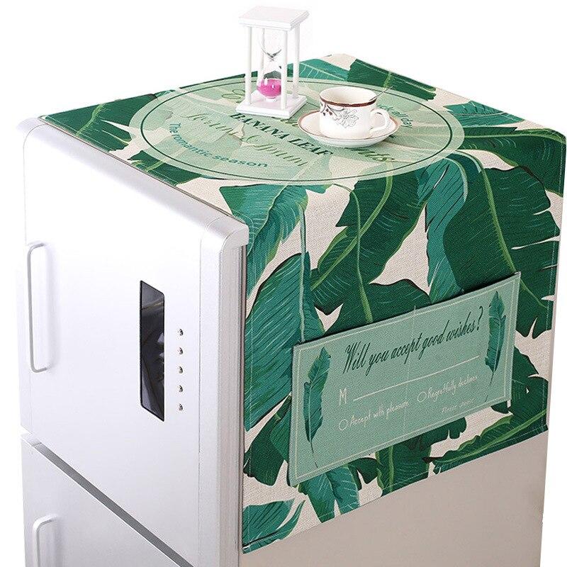 Single-door Refrigerator Towel Cotton and Linen Storage Bag Multi-purpose Modern Simple Printed Dust Cover