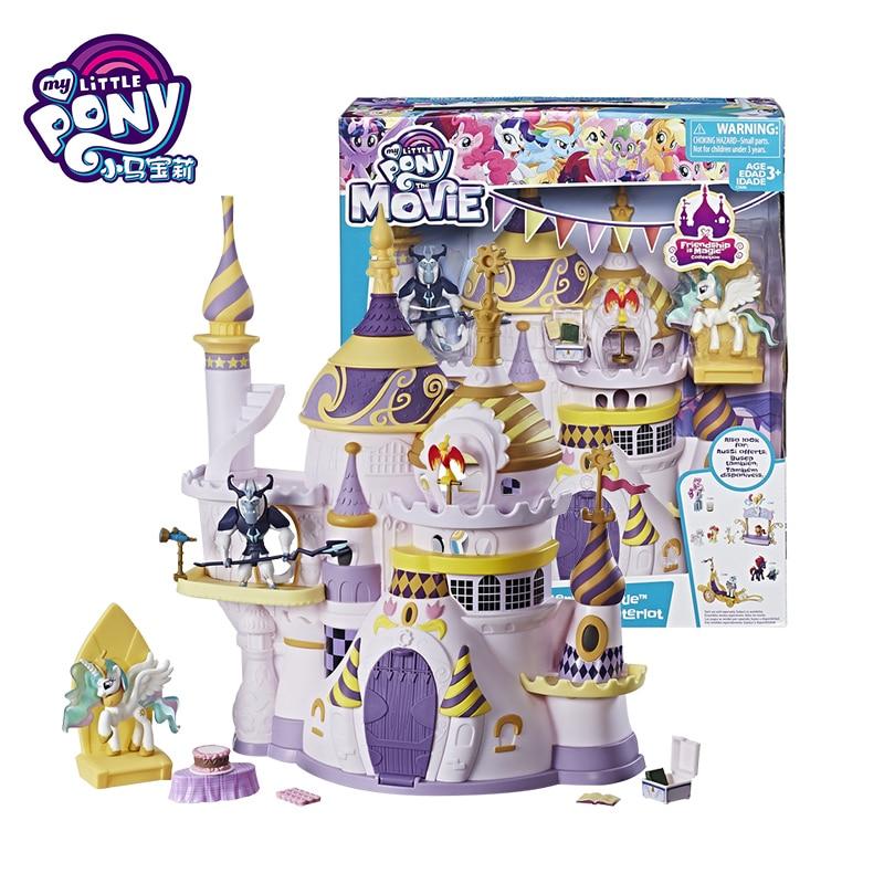 Hasbro Оригинал мой маленький пони Canterlot замок игрушки дружба Волшебные друзья кристалл маленький ребенок Рождественский подарок на день рожд...