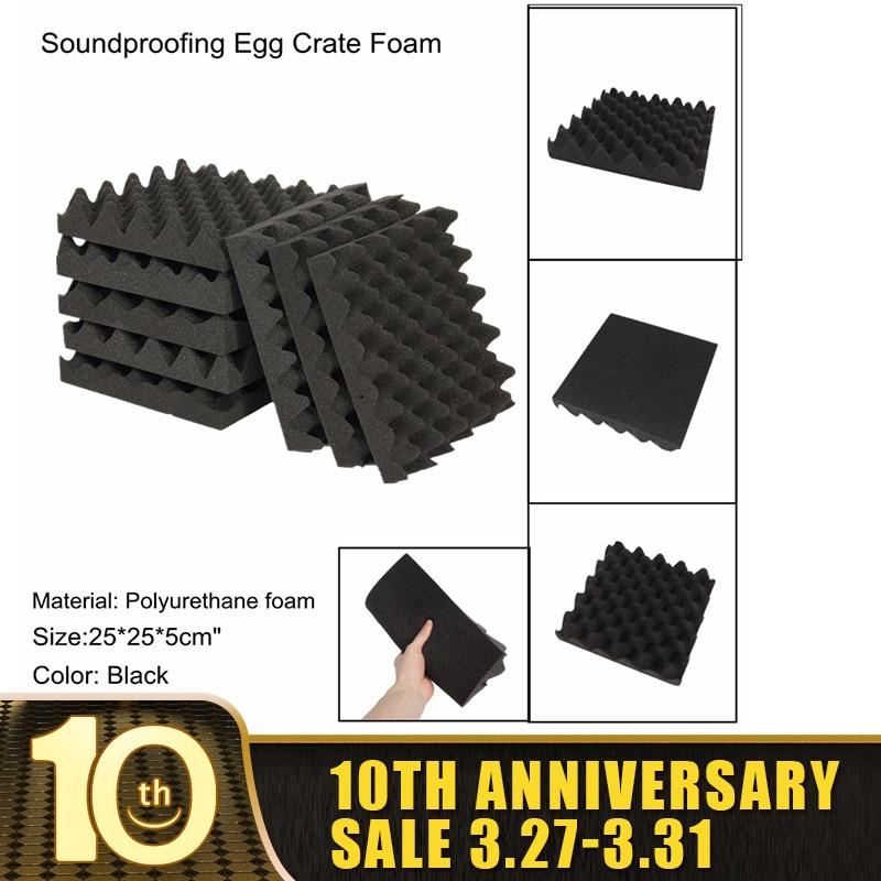 1PCS Acoustic Foam Soundproofing Foam 250*250*50mm Egg Crate Studio Acoustic Foam Soundproofing Treatment Egg Profile Tile Wedge