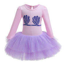 AmzBarley Baby Girls Little mermaid Costume Ariel Princess Dress up Long Sleeve Lace Party tutu Toddler Autumn clothes