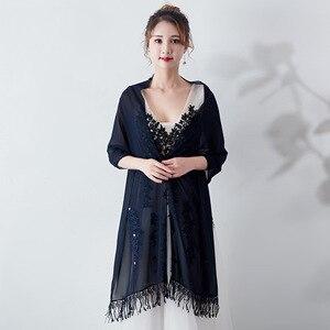 Image 5 - Janevini 우아한 여름 짧은 신부 쉬폰 케이프 shawls 여성 shrug 볼레로 랩 레이스 applique 페르시 웨딩 파티 액세서리