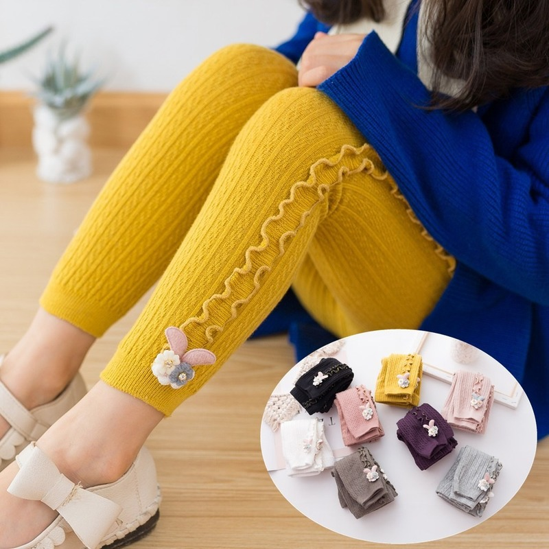 Leggings Clothing Spring Children Pants Fungus Candy-Color Girls Baby Autumn for Elastic