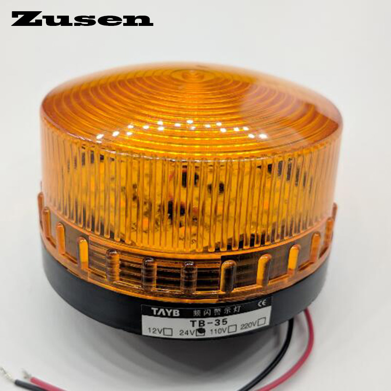Zusen TB35 24V Yellow Red Green Led Security Alarm Strobe Signal Warning Light LED Lamp Small Flashing Light