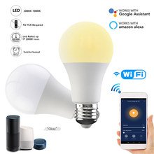Pode ser escurecido 15w b22 e27 wifi inteligente lâmpada led app operar alexa google assistente de controle inteligente lâmpada luz da noite