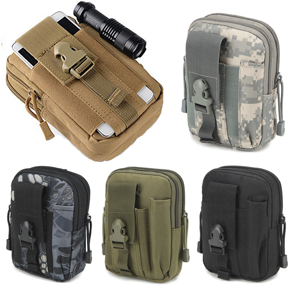 Men Tactical Molle Pouch Belt Waist Pack Bag Small Pocket Military Running Pouch Camping Bags Mobile Phone Wallet Travel Tool