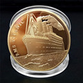 1Pcs Titanic Schiff Gedenkmünze Titanic Zwischenfall Sammeln BTC Bitcoin Kunst Geschenke Hause Dekoration 9 Arten
