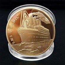 1 sztuk Titanic statek pamiątkowa moneta Titanic incydentu zbierać BTC Bitcoin prezenty artystyczne dekoracji wnętrz 9 stylów
