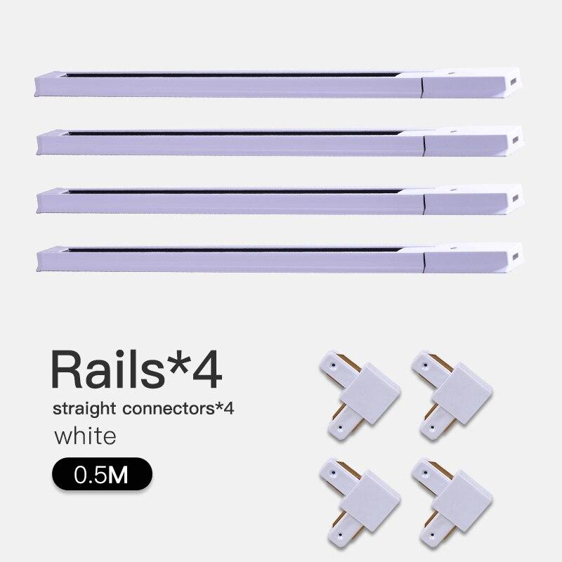 COB светодиодный Трековый светильник 220V 12/20 Вт, 30 Вт, 40 Вт регулируемый Точечный светильник Алюминий потолочный рельсы для Кухня магазин - Испускаемый цвет: White-0.5m Track-L