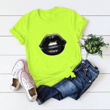2020 S-5XL New summer Sexy lips print T shirts Women Harajuku Femme Cool T-shirt Casual Top