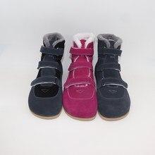 Tipsietoes Top Merk Barefoot Echt Leer Baby Peuter Meisje Jongen Kids Schoenen Voor Mode Winter Zigzig Zool Laarzen
