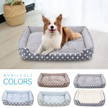 Plush Bed with Removable Pad  1