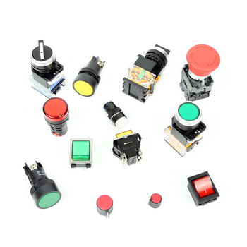 BateRpak Red/Yellow/Green button Semi automatic strapping machine parts,bundling switch parts,1pcs price
