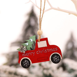 1PC Wooden Hanging Christmas Tree Cabin Elk Car Ornament Xmas Party Home Pendant Decor Christmas Home Decorations Dropshipping