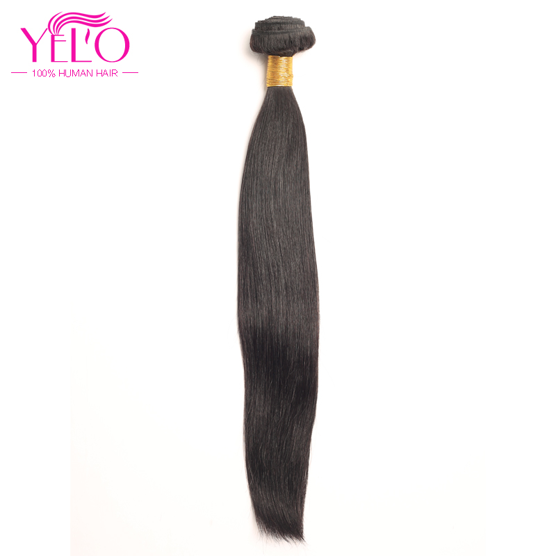 YELO High Ratio Brazilian Remy Straight 3Pcs/lot 100% Human Hair Extensions 8 30inch Natural Color Free Shipping - 3