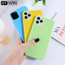 GTWIN Solid Color Phone Cases For iPhone 7 XR 11 Pro Candy Cases For iPhone 6 6s 8 Plus X XS Max Soft TPU Smooth Back Cover Capa cheap Plain Geometric Fitted Case Smooth and shiny solid candy color phone case Dirt-resistant Anti-knock Apple iPhones iPhone 6s plus