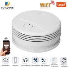 Tuya Intelligent Wifi Strobe Smoke Detector Wireless Fire Al