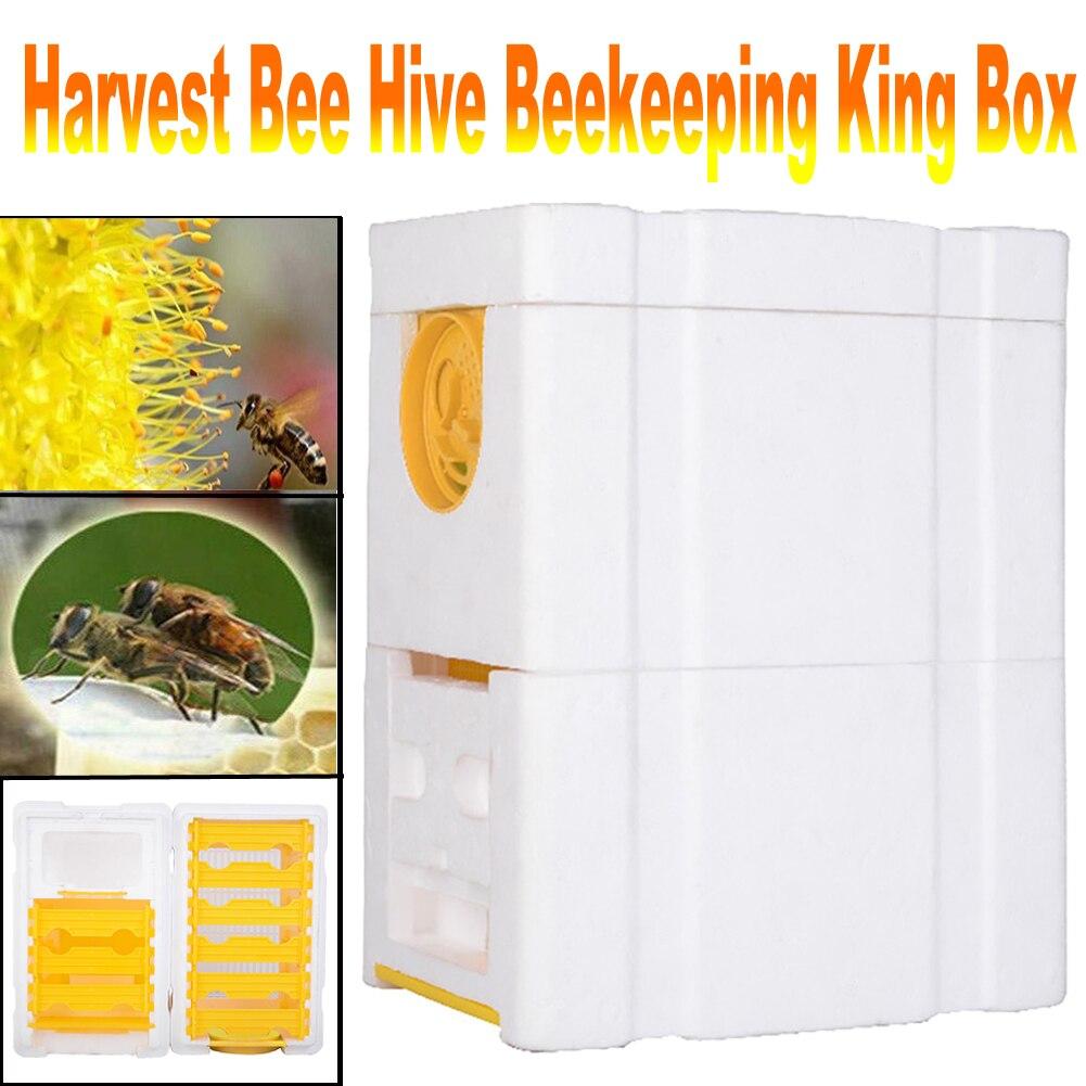 Harvest Bee Hive Beekeeping King Box Pollination Box Beekeeping Tool Perfect for Garden Pollination|Beekeeping Tools| |  - title=