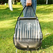 20L Solar Bathing Bag with Spiral nozzle Outdoor Self-Driving Camping Hot Water Bottle Portable Bath Storage