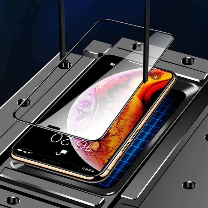 11D منحني حافة زجاج واقي على ل iPhone 7 8 6 6S Plus واقي للشاشة المقسى ل iPhone 11 Pro X XS Max XR Glass