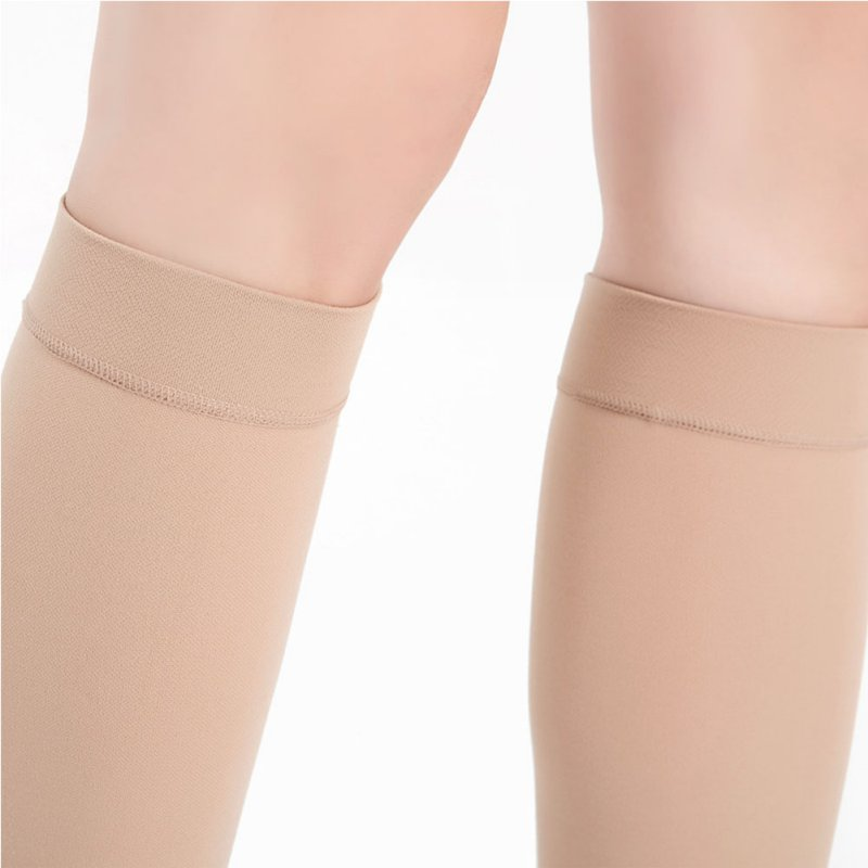 Open Toe Knee-High Medical Compression Stockings Varicose Veins Stocking Compression Brace Wrap Shaping for Women Men 18-21mm Pakistan