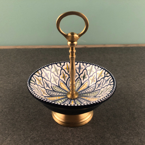 Ceramiczna taca miedziana wyświetlacz biżuterii talerz na owoce naszyjnik pierścień danie kolczyki taca wystawiennicza do kreatywnej dekoracji organizator