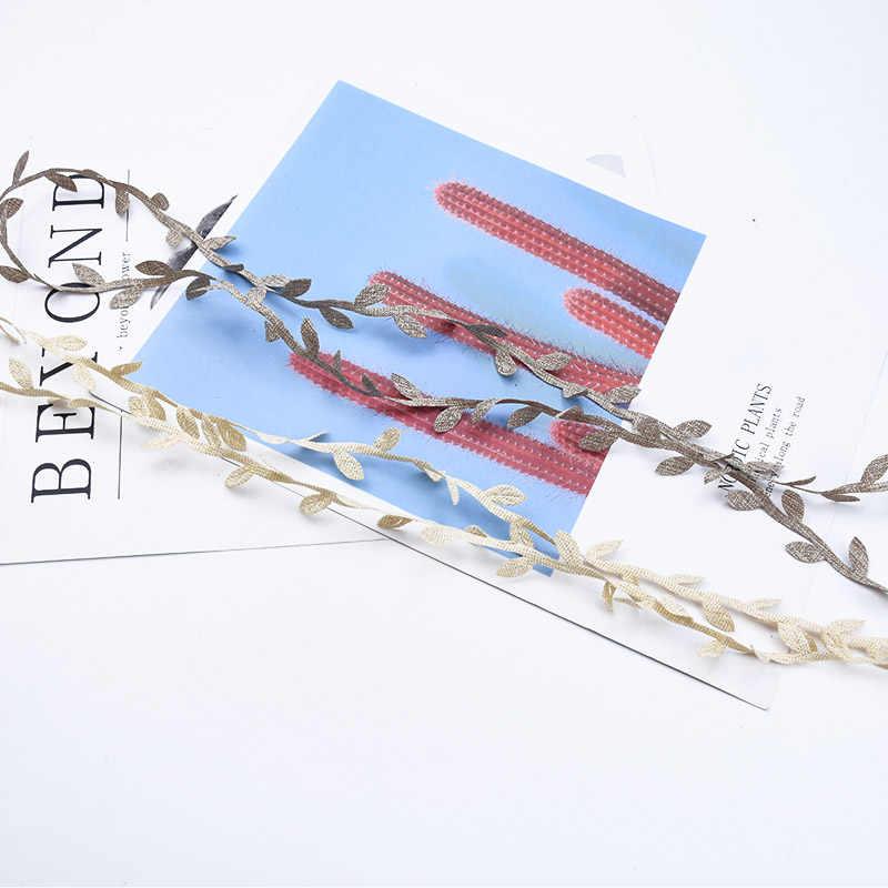 2/5/10 metrów jedwabiu liści winorośli ślubne dekoracje kwiatowe dekoracji domu łazienka boże narodzenie wieniec prezenty pudełko sztuczne rośliny