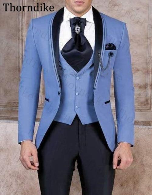 Handsome-One-Button-Groomsmen-Shawl-Lapel-Groom-Tuxedos-Men-Suits-Wedding-Prom-Best-Man-Blazer-Jacket-(1)
