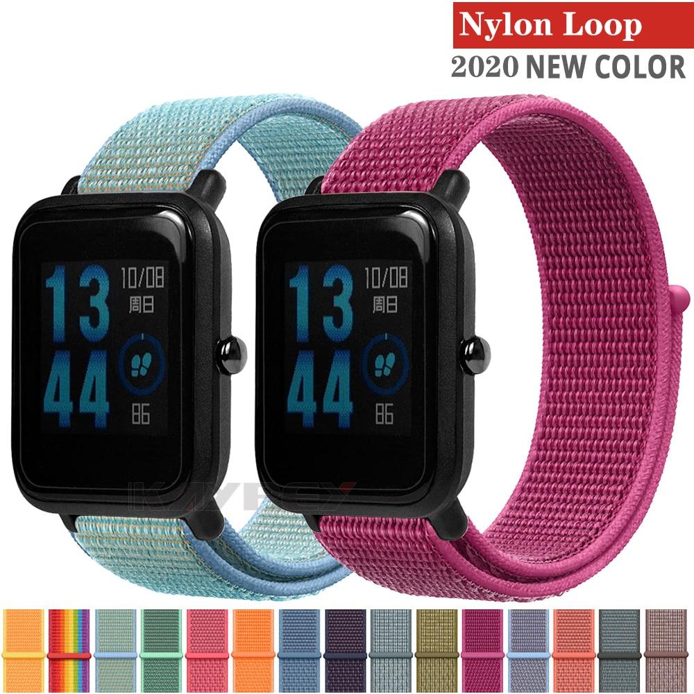 20mm Watch Strap Breathable Weave Nylon Sport Loop Wrist Belt Bracelet Hook Loop Buckle Watchband 22mm Watch Band Nato Strap