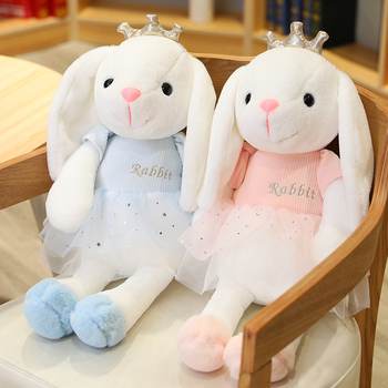 Sexy Huaggble Cute Rabbit Plush Toys Crown Bunny Stuffed & Plush Animal Baby Toys Doll Baby Accompany Sleep Toy Gifts For Kids fancytrader large plush bunny doll lovely soft stuffed cartoon rabbit kids toys gifts pink purple for chilren 100cm