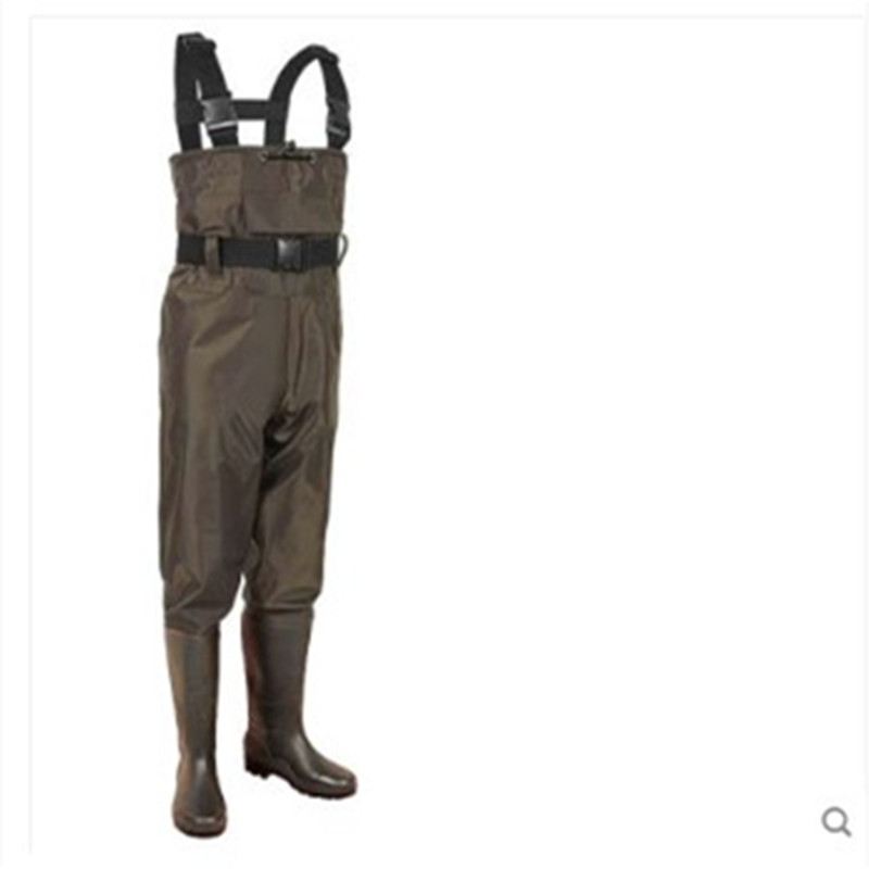 Eu 38-47 Men Women Fishing Trousers Boots Waterproof Anti-wear Jumpsuit Quick Drying Wader Hunting Working Wading Pants Shoes