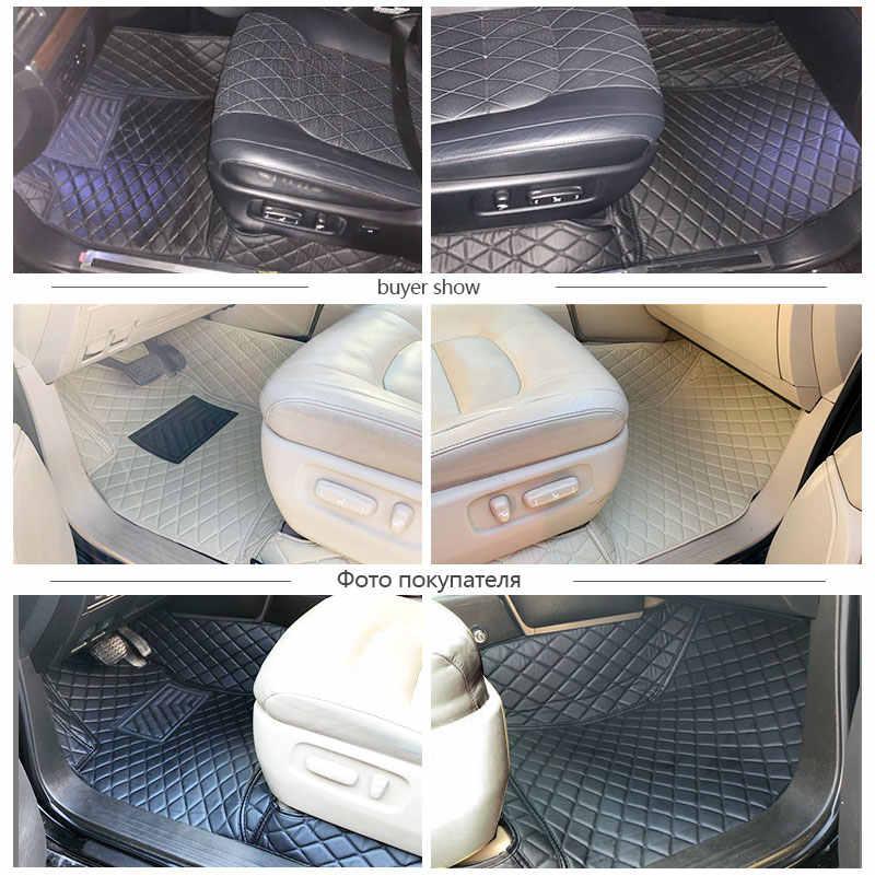 الحصير سيارة ثلاثية الأبعاد لتويوتا لاند كروزر 100 200 Prado120 150 الحصير الجلود المضادة للماء سيارة التصميم الداخلية سجادة أرضية سيارة