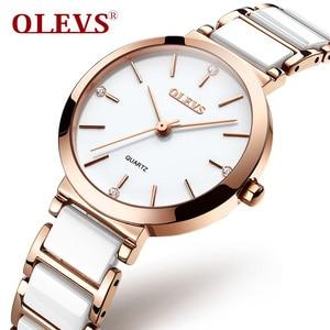 Image 1 - OLEVS Top Brand Luxury Quartz Women Watches Withe WristWatch Life Waterproof Clock Gift Watch For Womens Ladies Relogio Feminino