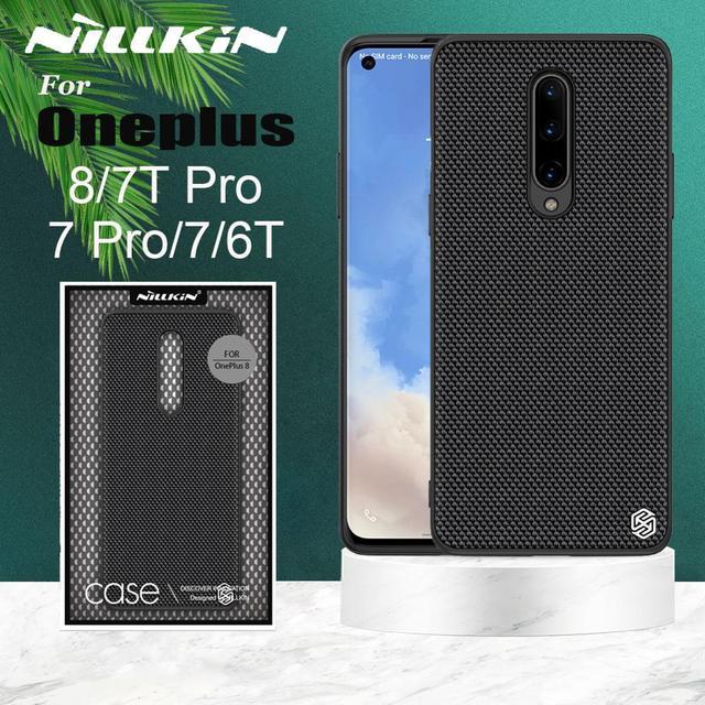 Funda para Oneplus 8 7T 7 Pro 6T NILLKIN texturizada de fibra de nailon de lujo duradera antideslizante cubierta completa para One Plus 8 7T 7 Pro 6T