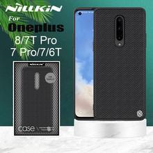 Voor Oneplus 8 7T 7 Pro 6T Case Nillkin Geweven Nylon Fiber Luxe Duurzaam Antislip Volledige cover Case Voor Een Plus 8 7T 7 Pro 6T