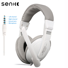 SENICC ST-2628N Fashion Stereo Headset with Mic 3.5mm Jack Headband for phone Mobile Phone Headphones Laptop PC Earphone gift candy colored headphones headband earphone stereo music headset with microphone for pc phone