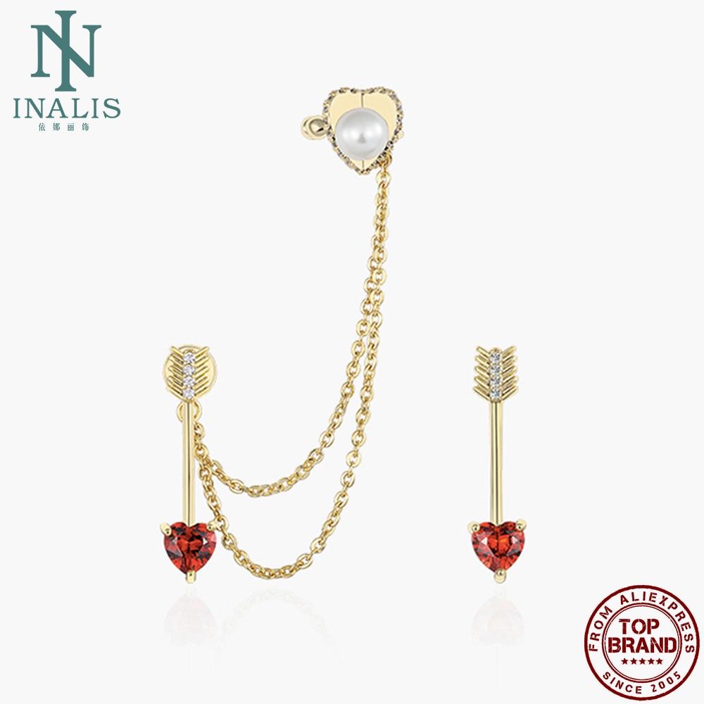 INALIS Earrings For Women Arrow Of Heart Inlay Clear Zirconia Drop Earring Valentine Day Jewelry Gift Send Girlfriend Hot Sale