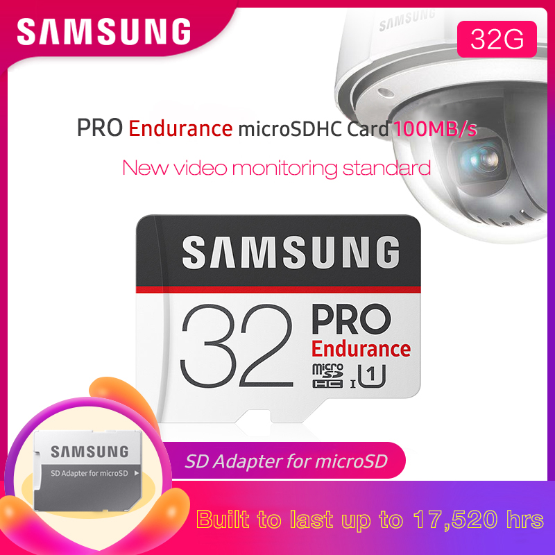 <font><b>SAMSUNG</b></font> <font><b>PRO</b></font> Endurance Microsd 32GB <font><b>Micro</b></font> <font><b>SD</b></font> Card 64GB SDHC Class 10 128GB SDXC High Quality C10 UHS-1 Trans Flash Memory Card image