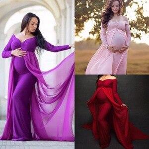 Puseky fotografia ciążowa rekwizyty sukienki dla kobiet w ciąży kobiety ubrania sukienka ciążowa na sesja zdjęciowa sukienki ciążowe