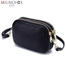New Fashion Shoulder Bag Woman Genuine Leather Handbag High Quality Luxury Ladies Small Red Soft Original Leather Messenger Bag
