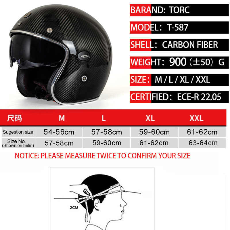 Motocicleta fibra de carbono 3/4 Open face vintage capacete Street Cafe Racer para Halley moto casco meia verão ECE