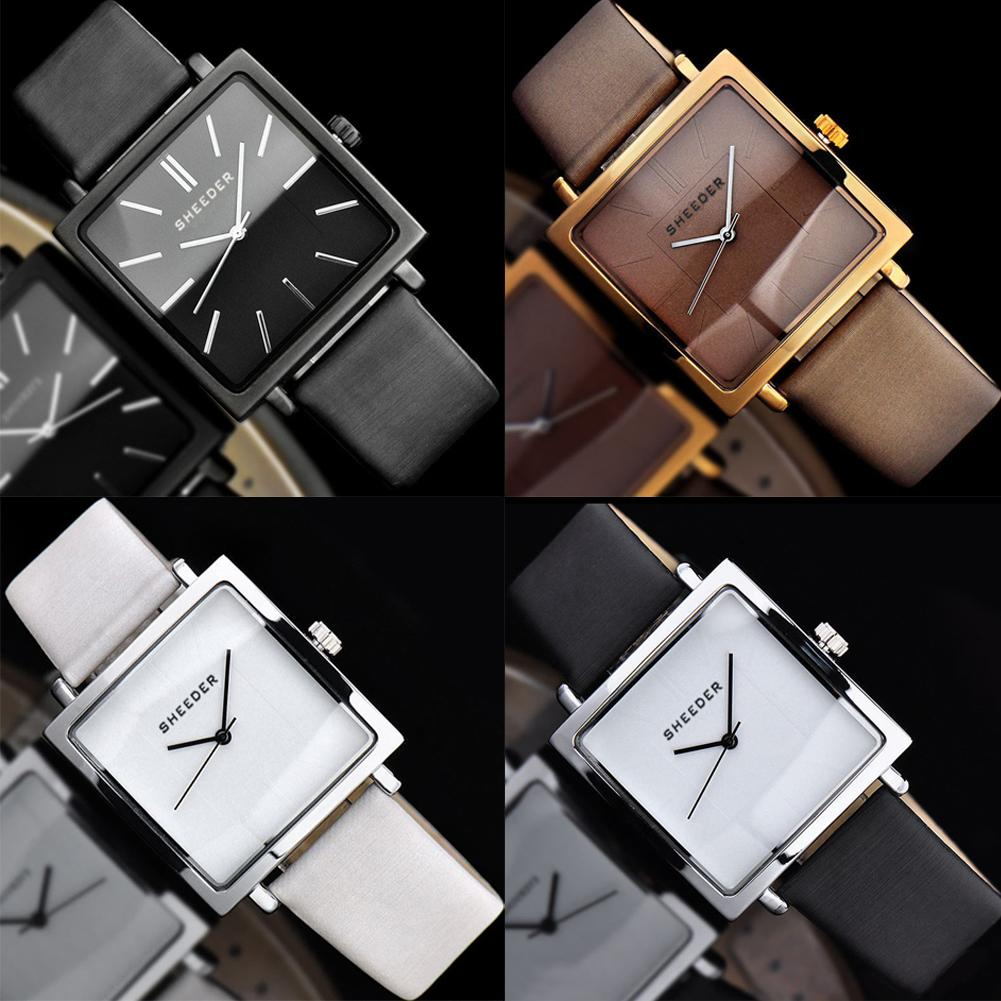 Vintage Women Square Dial Quartz Analog No Numbers Business Wrist Watch Gift Ladies Dress Watches Gift Luxury