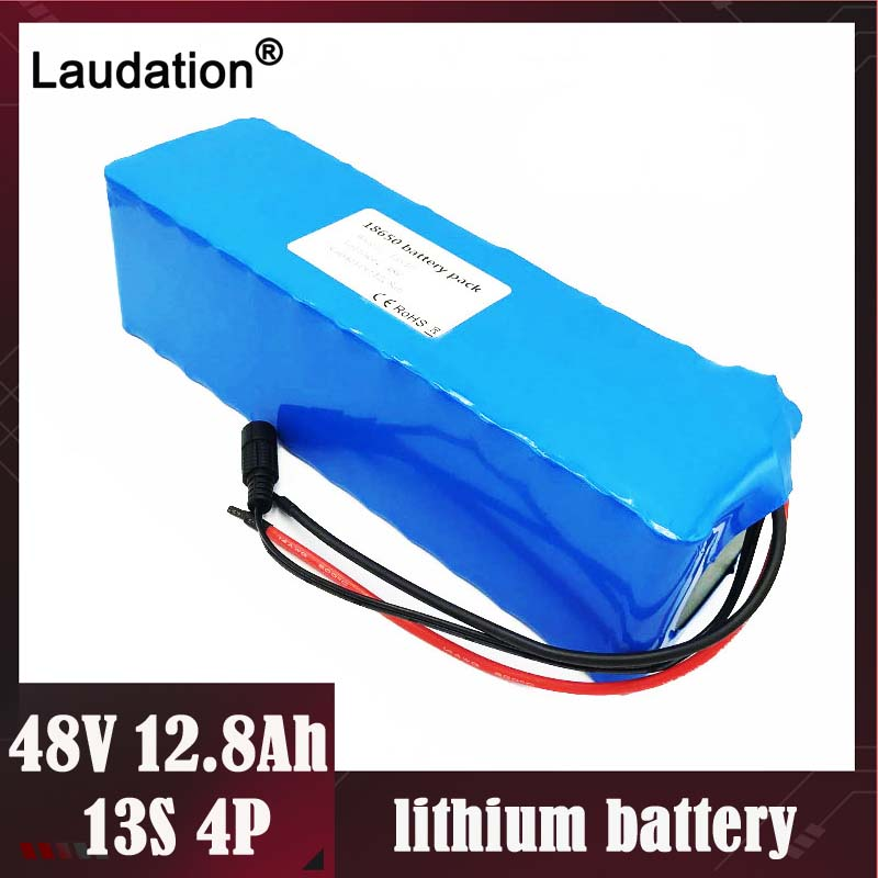Free Ship 48V lithium battery 12AH <font><b>13s</b></font> 4p 18650 rechargeable battery pack built-in <font><b>15A</b></font> <font><b>BMS</b></font> For electric bicycles motor Laudation image