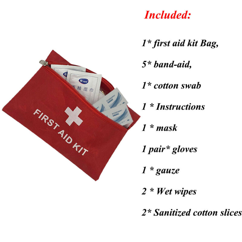 Portable Mini Outdoor First Aid Kits Emergency Medical Kit Bag Travel Medicine Package Pouch Home Car Hiking Survival Camping