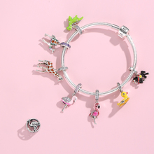 Hot 100% 925 Sterling Silver Enamel Flamingo Little yellow duck Charm Beads Fit Original JIUHAO Charms Bracelets Jewelry Making