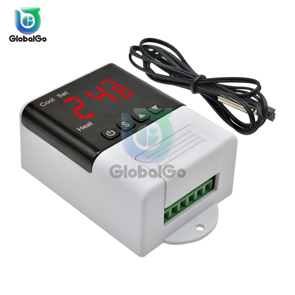 DTC-1200 LED Digital Temperature Controller Thermostat Thermometer Home Intelligent Temperature Control System Cooling Heating