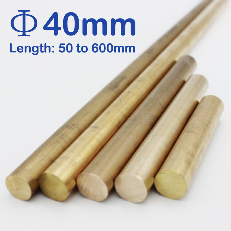 Diameter 40mm, Length 50mm To 600mm Brass Round Bars/rods